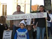 Westward Ho! residents protest against Tesco Plans