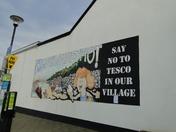 Wall art opposes Westward Ho! Tesco plans