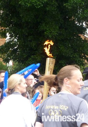 Olympic Torch Relay passes through Old Stevenage