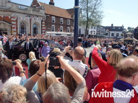 The Queen visits Hitchin