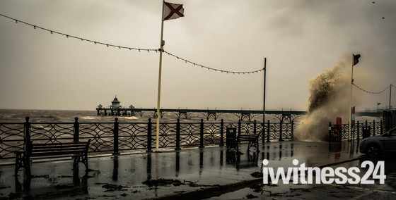 Clevedon storms on sunday