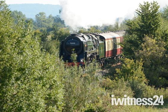 Royal Duchy steams through North Somerset