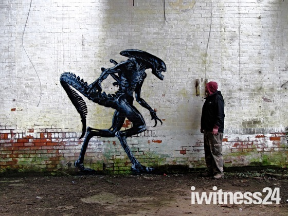 Various street art by weston artist JPS