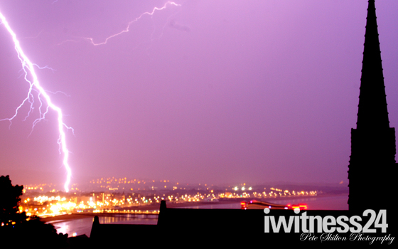 Lightning over Weston