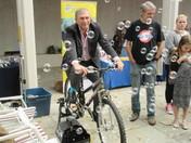 Lee Scott on Bubble Bike