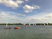 Water activities at Fairlop Waters Lake - sailing on Dinghies