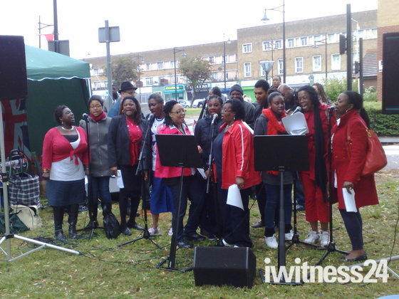 Sanctuary Christian Fellowship Community Choir performing during local Street Pa