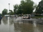 Heavy rainfall in Harold Hill.