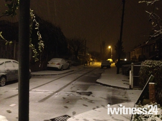 Snow arrives back in Hornchurch 10th Feb