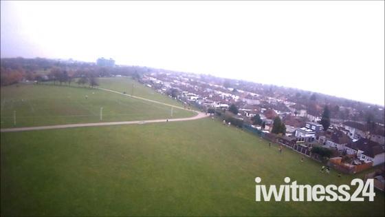 Harrow Lodge park run - Aerial shots from model plane