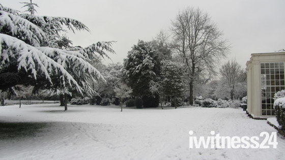 Langtons, Hornchurch with blanket of snow