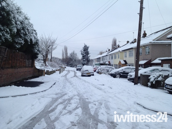 Lots of snow in Hornchurch