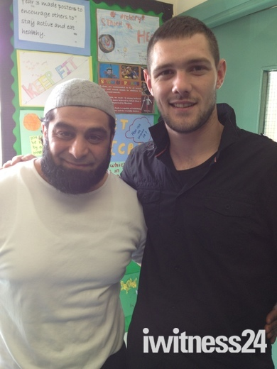 Damon Scully and Rashid Khan from Make Bradford British at Al Noor Primary Schoo