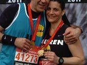 London Marathon 2012- also our 22nd wedding anniversary