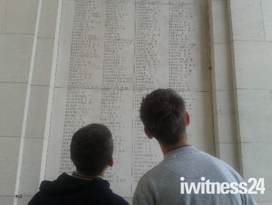 Eastbrook Students are amongst the first to visit the battlefields