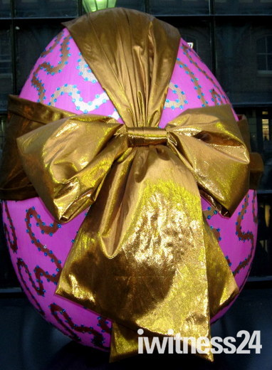 FABERGE EASTER EGG HUNT - STREET HOMAGE TO FABERGE BY ZANDRA RHODES