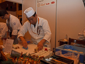 chefs prepare sushi at Hyper Japan in Earls Court