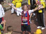 Andrew Strauss, Harry Judd & Michel Roux jr finish the London Marathon