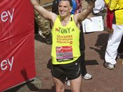 Tony Audenshaw, George Tainsford, James Toseland finish the London Marathon