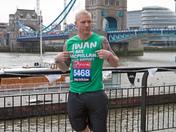 Iwan Thomas and Amanda Mealing ahead of the Virgin London Marathon 2013