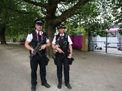 Armed Police on guard in The Mall
