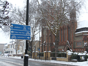East London gets a snow cover