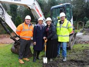 Work begins on Hospice expansion: Baroness Howells digs in