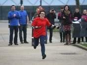 Pancake race for Hospice
