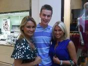 Sam and Billie Faiers at Lakeside