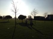 Air ambulance at Parsloes Park