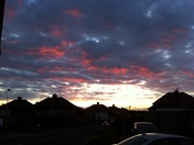 Collier Row Sky at dusk