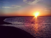 Sunset over the river @ Orford Ness