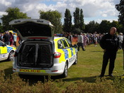 Police Dog Unit and Officer at 'Bark in the Park'