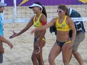 Bronzed Brazilian Olympic Beach Volleyball Team achieve a bronze medal