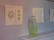 Fibrefusion textile art exhibition at  woodbridge library