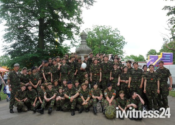 Cadets line route for Torch Relay Ipswich