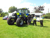 Police tractor in Stowupland!