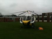 Air Ambulance at Felixstowe Academy