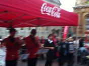 The Coca Cola  truck comes to Ipswich
