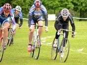 Grass track cycle racing in Chantry Park, Ipswich