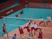 Olympic Volleyball action