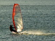 Windsurfers out on Alton Water