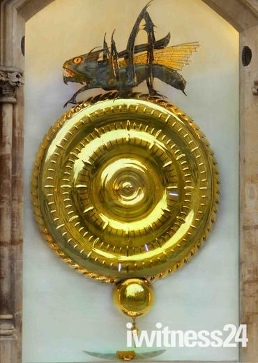Unusual Clock in Cambridge, (Corpus Clock)