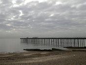 A 'moody' Sunday Morning at Felixstowe Beach