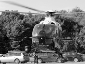 Police Helicopter Lift's Off