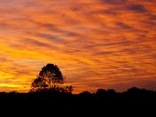 sun set over suffolk