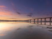 Orwell Bridge Sunset
