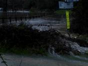Flooding at Burford Bridge on the B1115, near Great Finborough