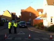 Police at the scene of Kesgrave double death investigation