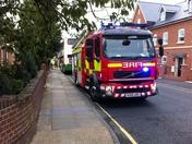 Bus fire in Ipswich